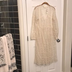 Anthropologie lace duster
